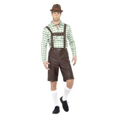 Beierse Man Kostuum - Groen En Bruin