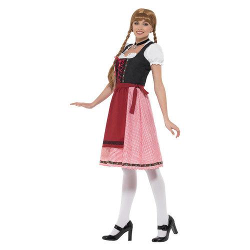 Smiffys Beiers Taverne Meisjekostuum - Rood En Zwart