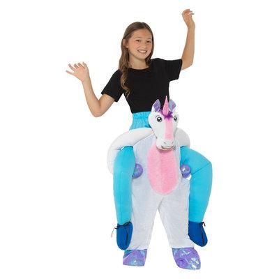 Kinderen Carry me Eenhoorn Kostuum - Roze En Wit