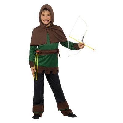 Robin Hood Kostuum - Groen En Bruin