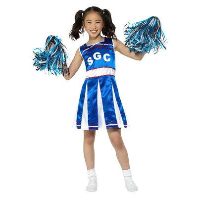 Cheerleader Kostuum - Blauw