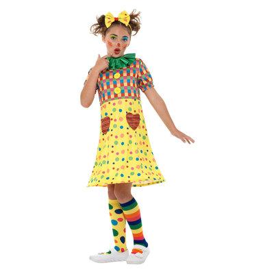 Meisjes Clown Kostuum - Veelkleurige