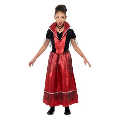 Vampier Prinses Kostuum - Zwart & Rood