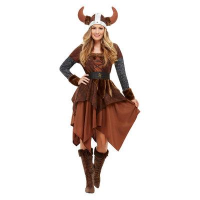 Viking Barbaar Koningin Kostuum - Bruin