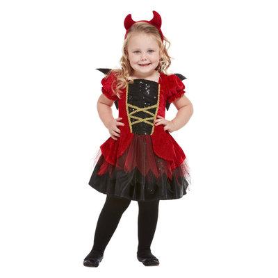 Peuter Duivel Kostuum - Rood