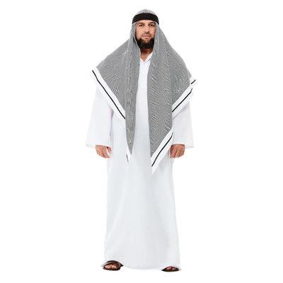 Deluxe Nep-sjeik Kostuum - Wit