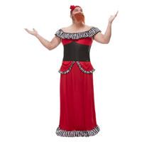 Smiffys Bebaarde Dame Kostuum - Rood