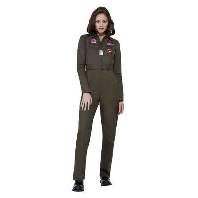 Top Gun Dames Kostuum - Kaki
