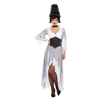 Gotische Bruid Kostuum - Wit