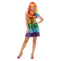 Smiffys Glitter Regenboog Kostuum - Multi-colored