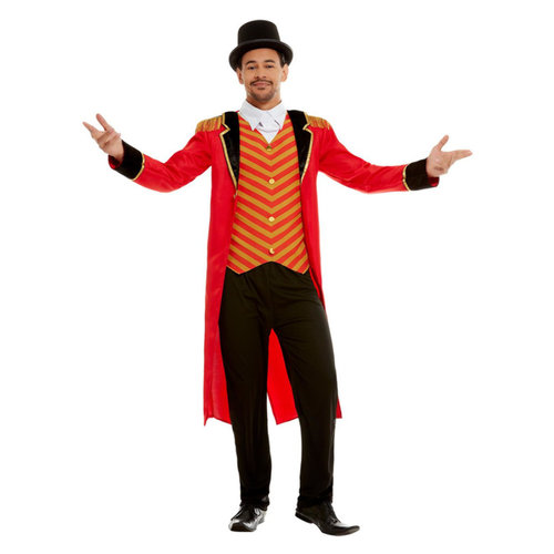 Deluxe Circusdirecteur Kostuum - Rood