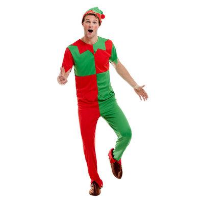Elf Kostuum - Groen En Rood