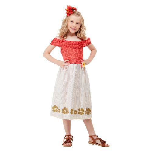 Hawaiian Princess Kostuum - Rood