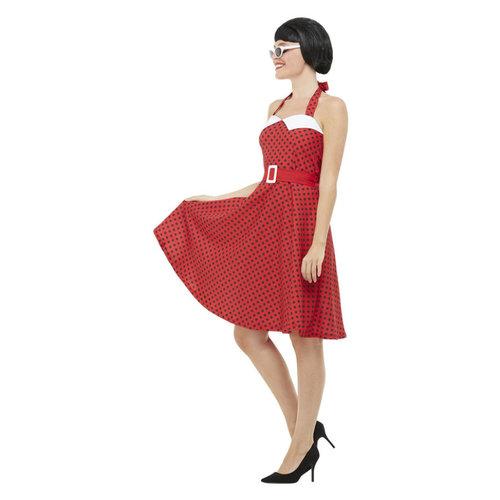 '50 Rockabilly Pin-up Kostuum - Rood