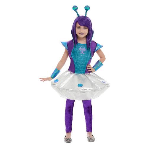 Smiffys Alien Meisje Kostuum - Zilver