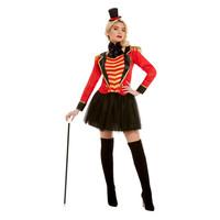Smiffys Deluxe Circusdirecteur Dame Kostuum - Rood
