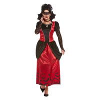 Smiffys Gothic Vampiress Kostuum - Zwart
