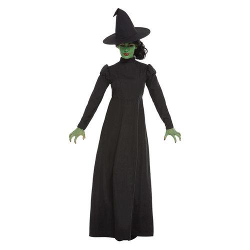 Smiffys Slechte Heks Kostuum - Zwart