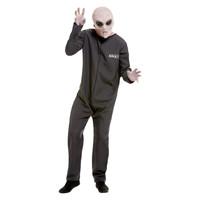Smiffys Area 51 Hazmat Pak Kostuum - Grijs