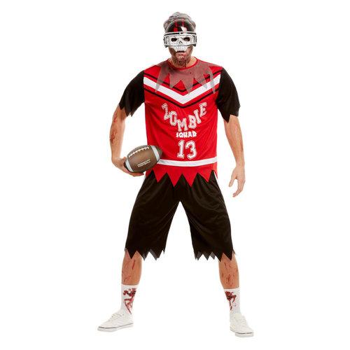 Smiffys Zombie Voetballer Kostuum - Rood