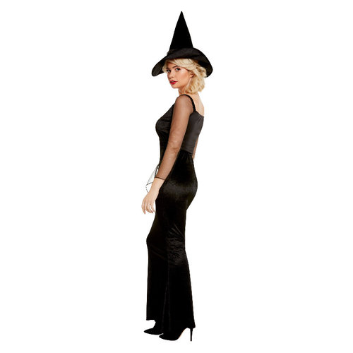 Glam Heks Kostuum - Zwart