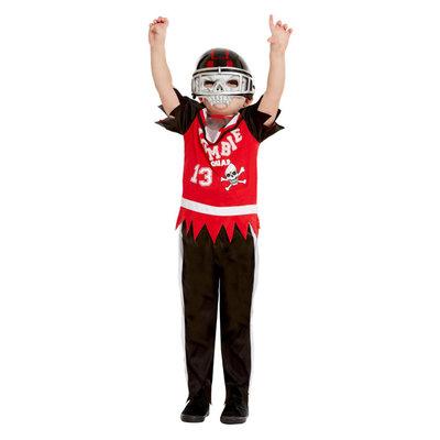 Zombie Voetballer Kostuum - Rood