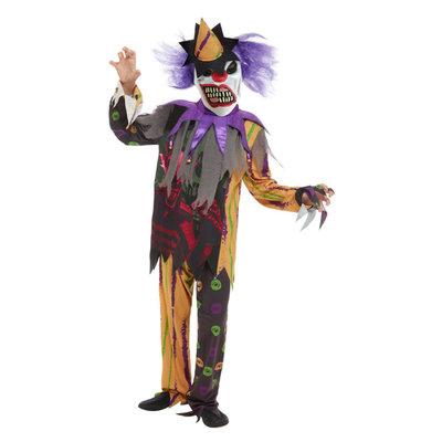 Enge Clown Kostuum - Veelkleurige