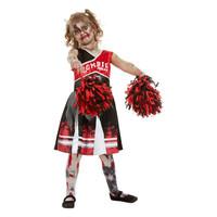 Smiffys Zombie Cheerleader Kostuum - Rood