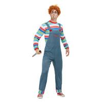 Smiffys Chucky Heren Kostuum - Blauw