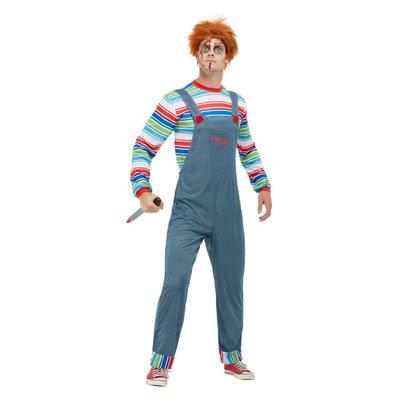 Chucky Heren Kostuum - Blauw