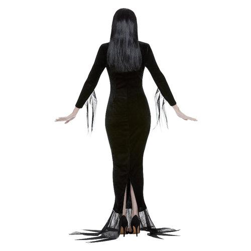 Smiffys Addams Family Kostuum Morticia - Zwart