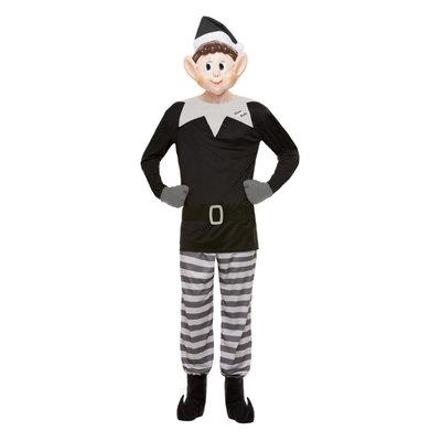 Elven Behavin' Slecht Slecht Elf Kostuum - Grijs En Zwart