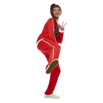 Fitgirl Kostuum - Rood-wit