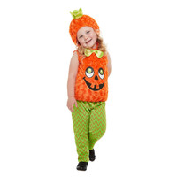 Smiffys Peuter Pompoen Kostuum - Oranje