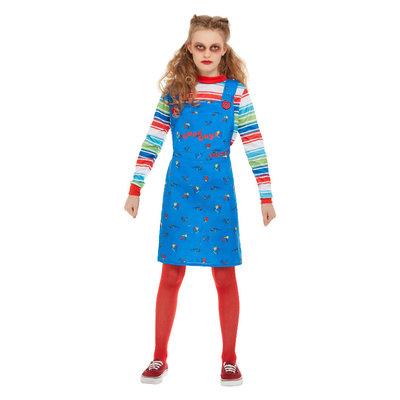 Chucky Kostuum - Blauw
