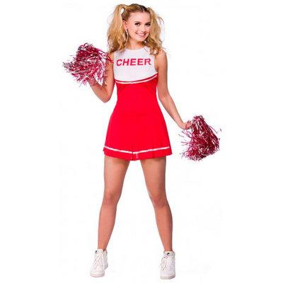Cheerleader Kostuum Met Pompons