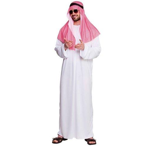 Wicked Arabische Sjeik  wit/rood kostuum