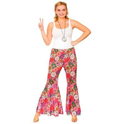 Flower Power Hippie gebloemde broek