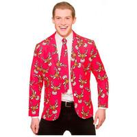 Wicked Kerst colbert met stropdas - rendier
