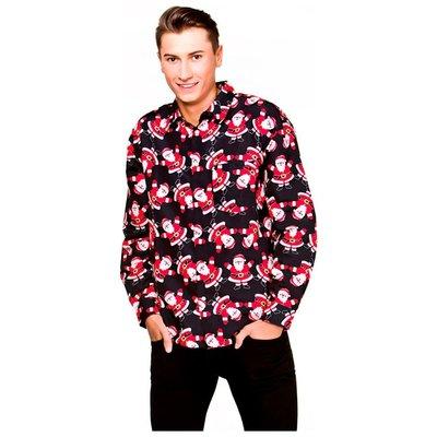 Kerstshirt (blouse) - kerstman