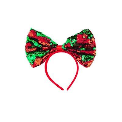 Haarband met Kerststrik