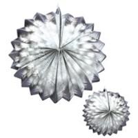 Widmann 2 Zilver Metalic Lampions 25Cm