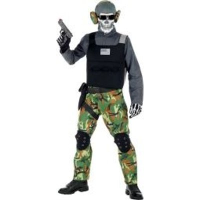 Skelet Soldaat Kostuum