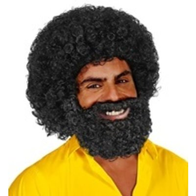 Pruik Jerome met baard