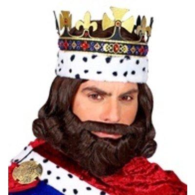 Pruik Koning Middeleeuwen met baard