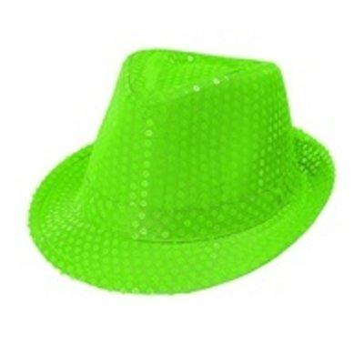 Fedora, neon groen