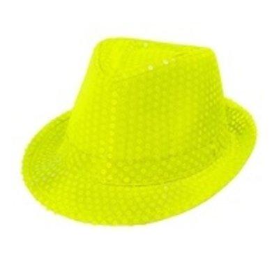 Fedora, neon geel