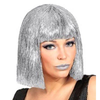Pruik, Vegas Glitter Zilver
