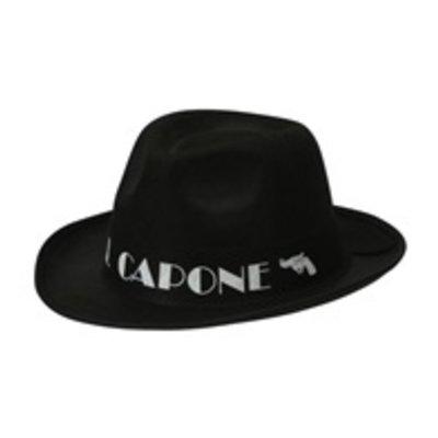 """Hoed zwart """"Al Capone"""""""