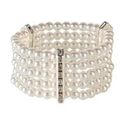 Luxe Strass Armband Met Parels